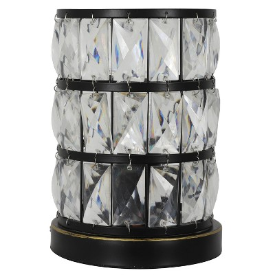 """9"""" x 6"""" Hayes Faceted Touch Control Uplight Table Lamp (Includes LED Light Bulb) Bronze - Decor Therapy"""