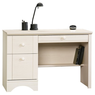 Harbor View 3 Drawer Computer Desk - Antiqued White - Sauder