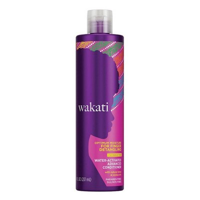 Wakati Paraben & Sulfate Free Water-Activated Detangling Conditioner with Natural Shea and Jojoba Oil for Natural Hair - 8 fl oz