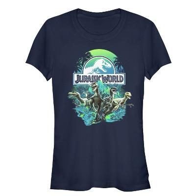 Junior's Jurassic World Dinosaur Nature Scene T-Shirt