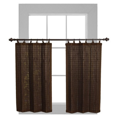 Bamboo Ring Top Curtain Tier Set - Versailles Home Fashions