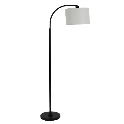"""60"""" Asher Arc Floor Lamp Black - Decor Therapy"""