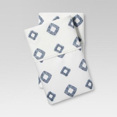 Performance Pillowcase Set (Standard)Metallic Blue Lattice 400 Thread Count - Threshold™