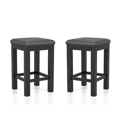Set of 2 Ferncliff Padded Seats Counter Height Stool Black/Gray - HOMES: Inside + Out