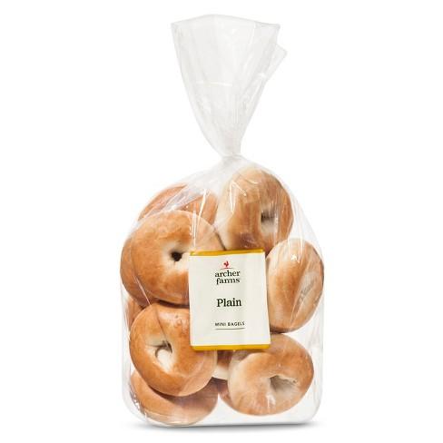Plain Mini Bagels - 16oz/12ct - Archer Farms™ - image 1 of 1