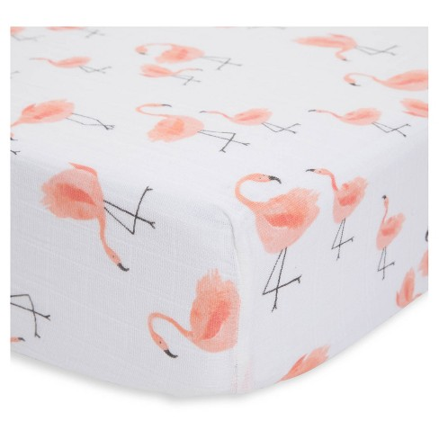 Little Unicorn Cotton Muslin Fitted Crib Sheet - Pink Ladies - image 1 of 3