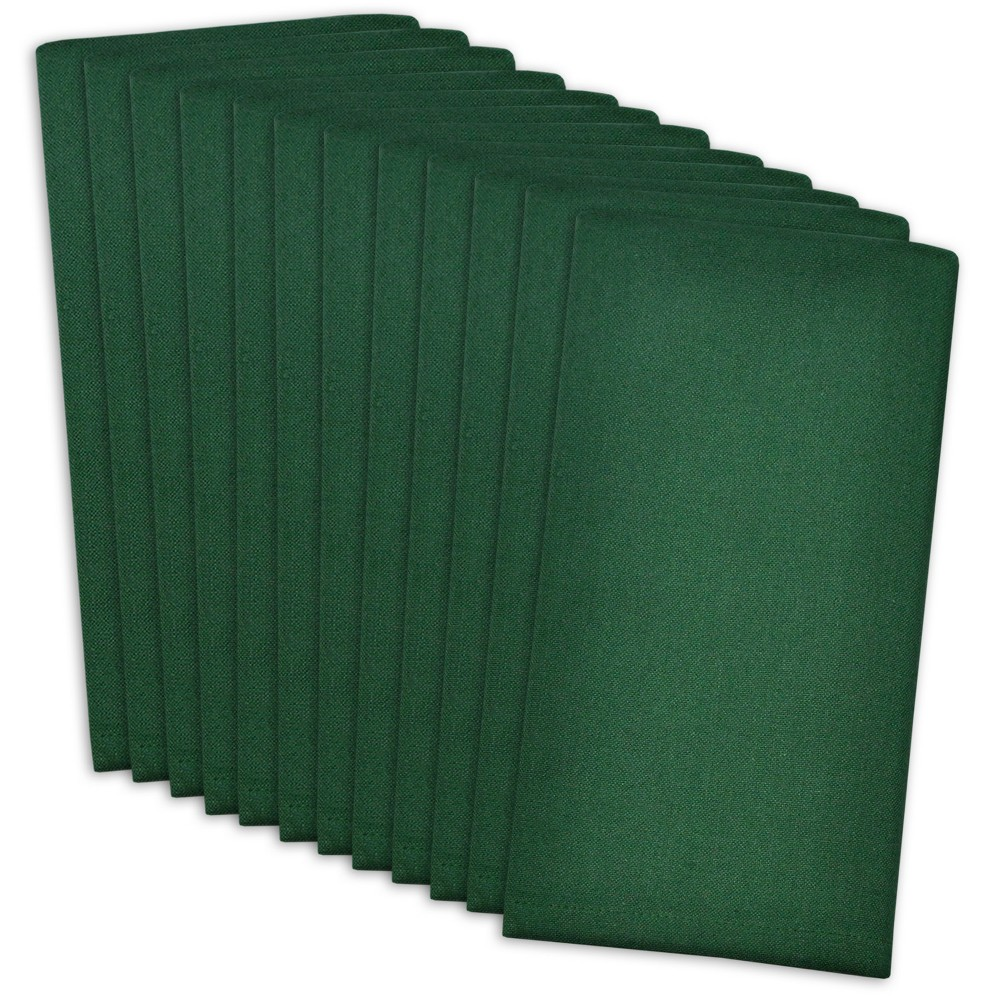 Image of Set of 12 Buffet Napkins Dark Green - Design Imports