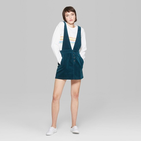 6718135a169b1 Women s Corduroy Pinafore - Wild Fable™ Teal   Target