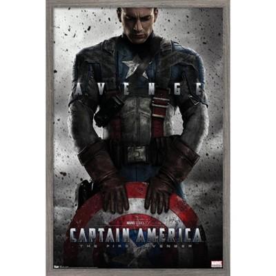 Marvel - Captain America - The First Avenger - One Sheet Framed Wall Poster Prints