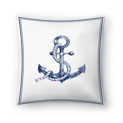 Americanflat Anchor by Nuada Throw Pillow