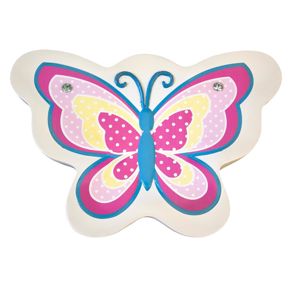 Image of Butterfly Dots Soap Dish Pink - Homewear