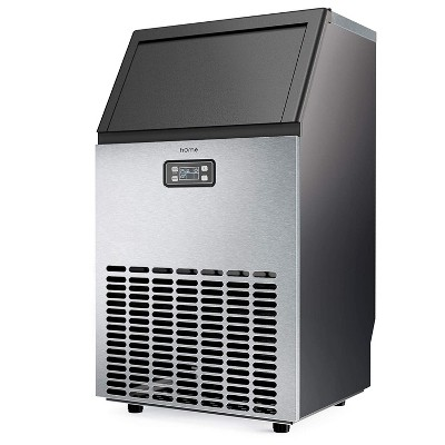 hOmeLabs Freestanding Commercial Ice Maker Machine with Panel and Scoop for Restaurants, Bars, Homes, and Offices, 143 Pound Capacity, Stainless Steel