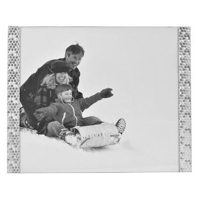 8 x10  Honeycomb Stamped Aluminium Frame Silver - Threshold™
