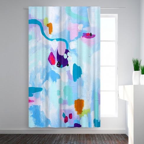 Americanflat Texture By Deb Mcnaughton Blackout Rod Pocket Single Curtain Panel 50x84 Target