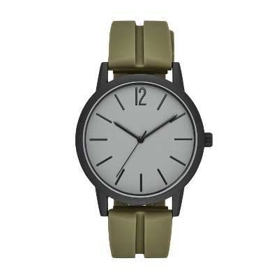 Men's Rubber Strap Watch - Goodfellow & Co™ Green