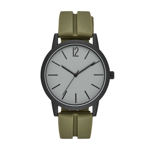 Men's Rubber Strap Watch - Goodfellow & Co™ Green - image 1 of 1