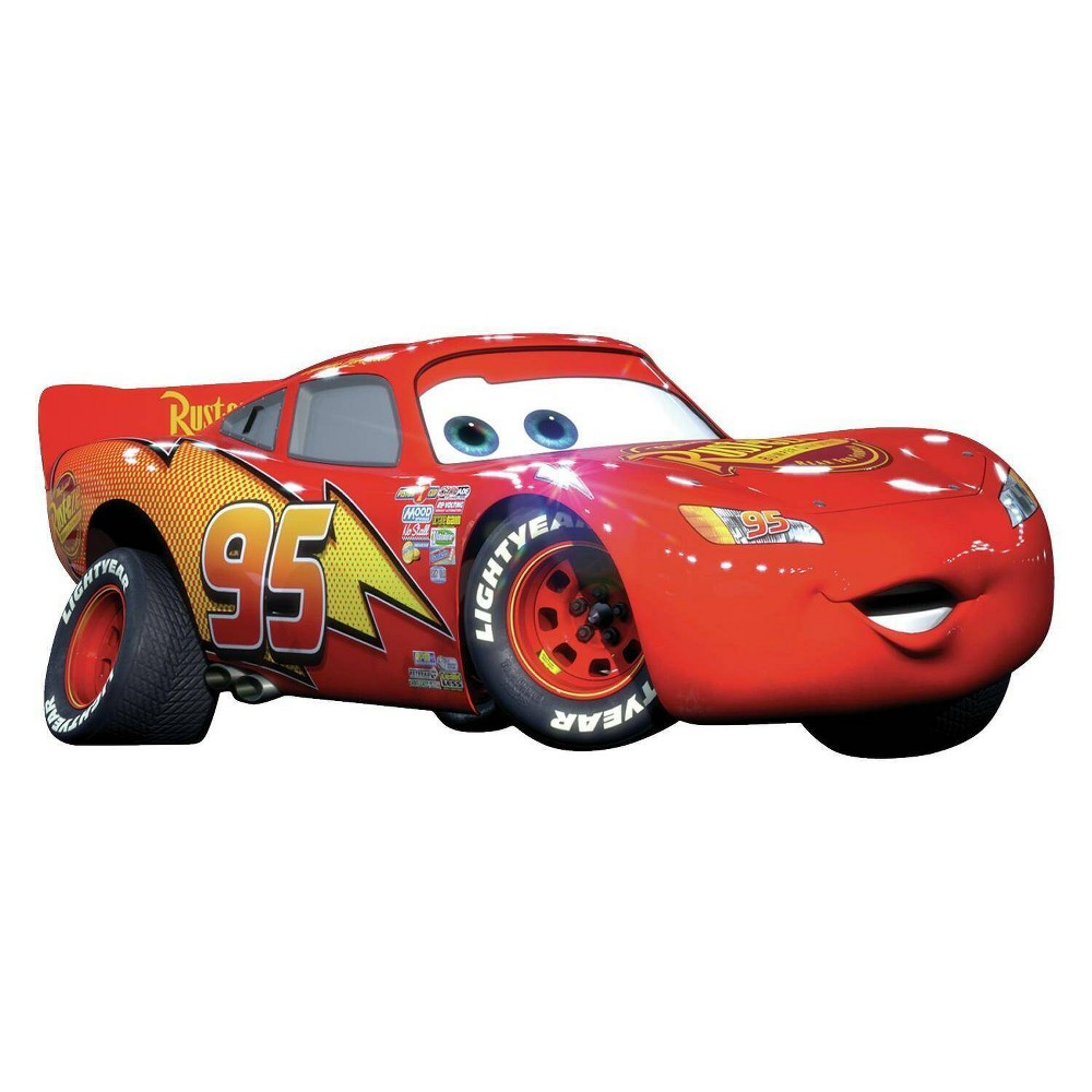 Image of Cars Lightening McQueen Peel and Stick Giant Wall Decal