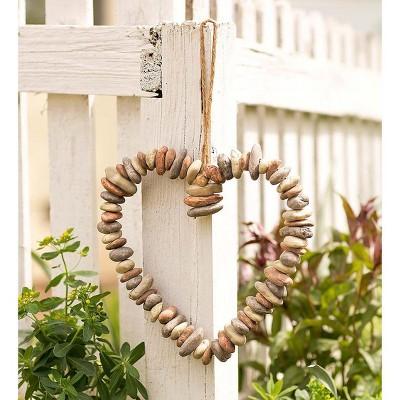 Plow & Hearth - Hanging Rock Heart Decorative Wreath