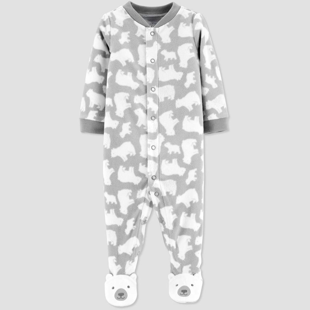 Image of Baby Boys' Polar Bear Fleece Sleep 'N Play - Just One You made by carter's Gray 9M, Boy's