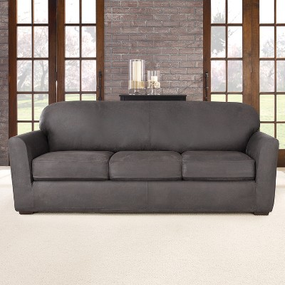 Superieur 4pc Ultimate Stretch Leather Sofa Slipcover   Sure Fit : Target