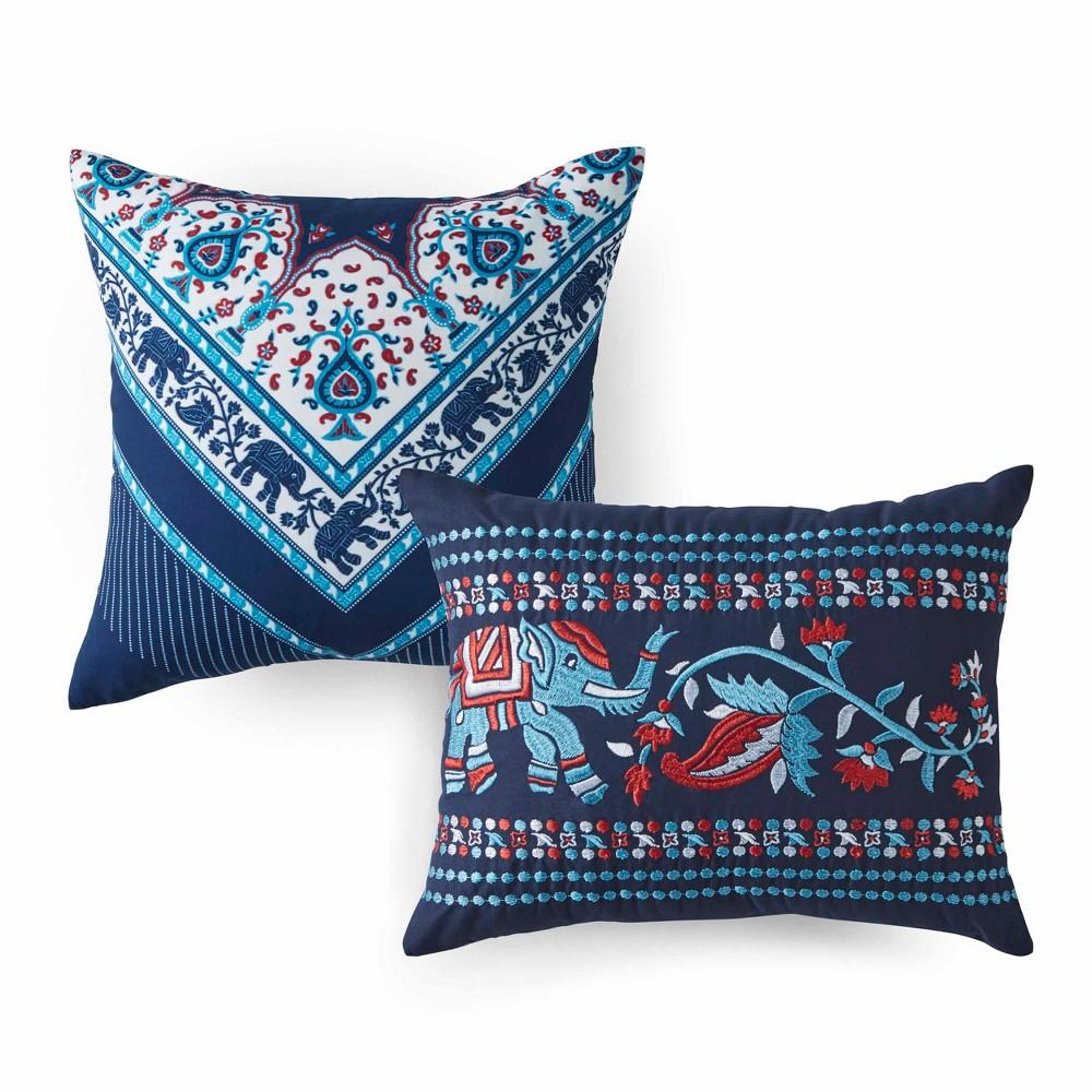 Image of 2pc Amena Throw Pillow Set Indigo - Azalea Skye