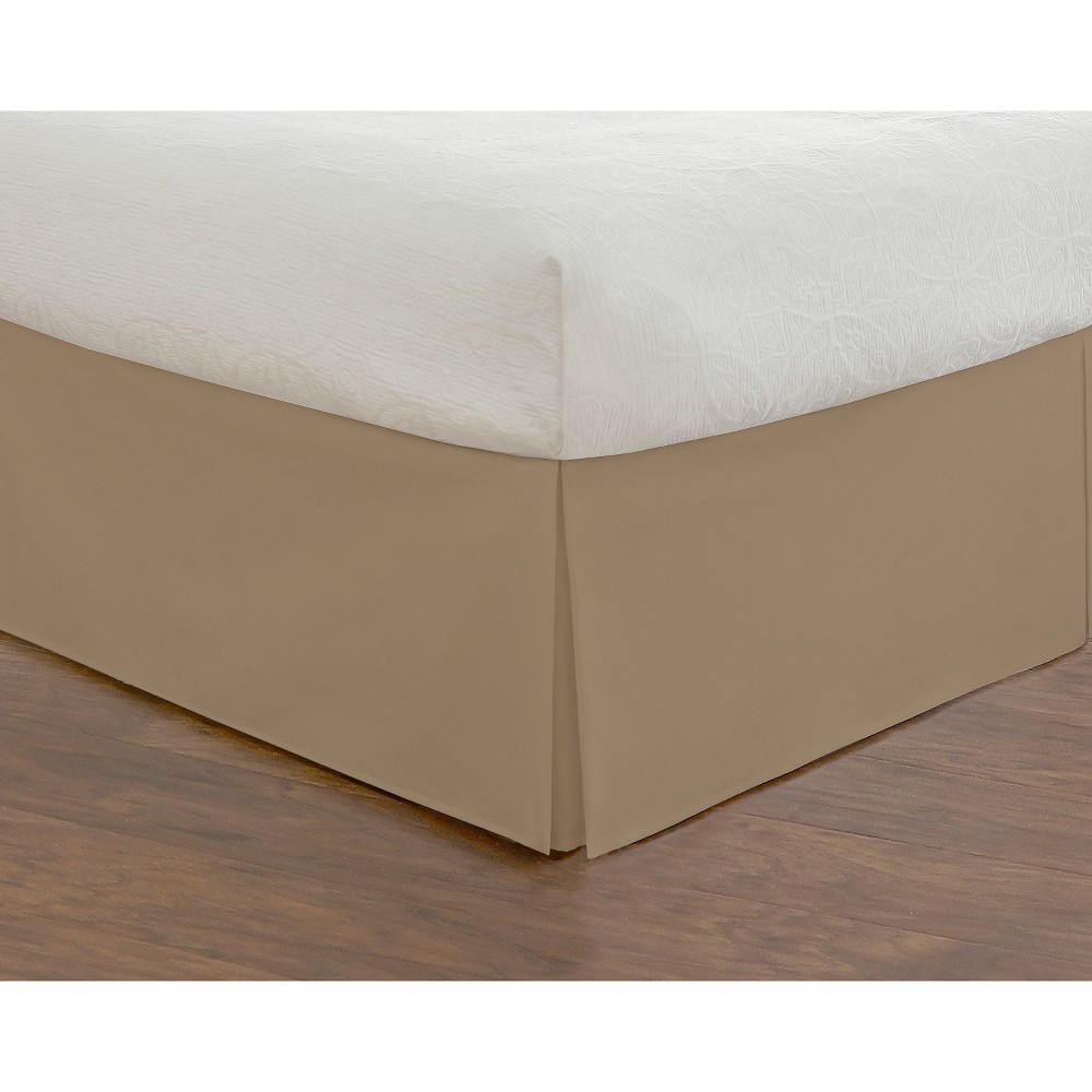Image of Mocha Tailored Bedding Collection 14 Bed Skirt (King), Mocha Brown Vanilla
