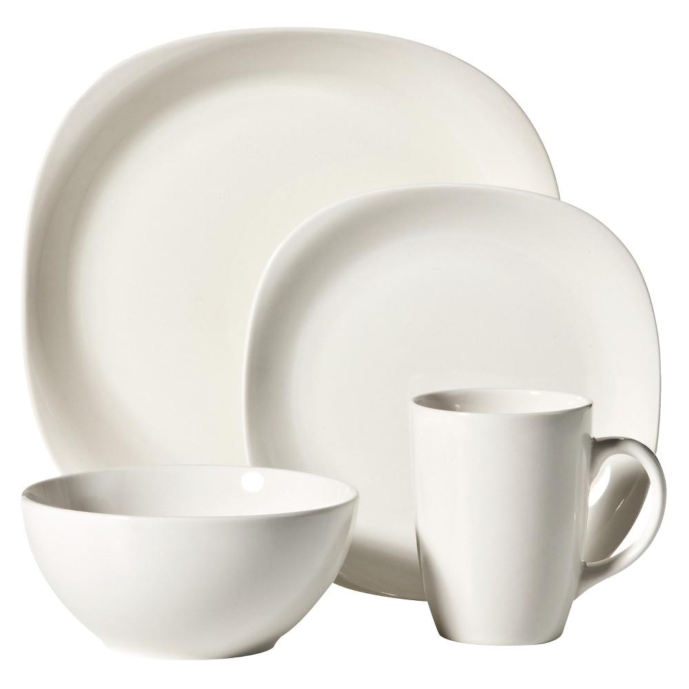 Image of C.C.A. International Quadro 16pc Dinnerware Set White