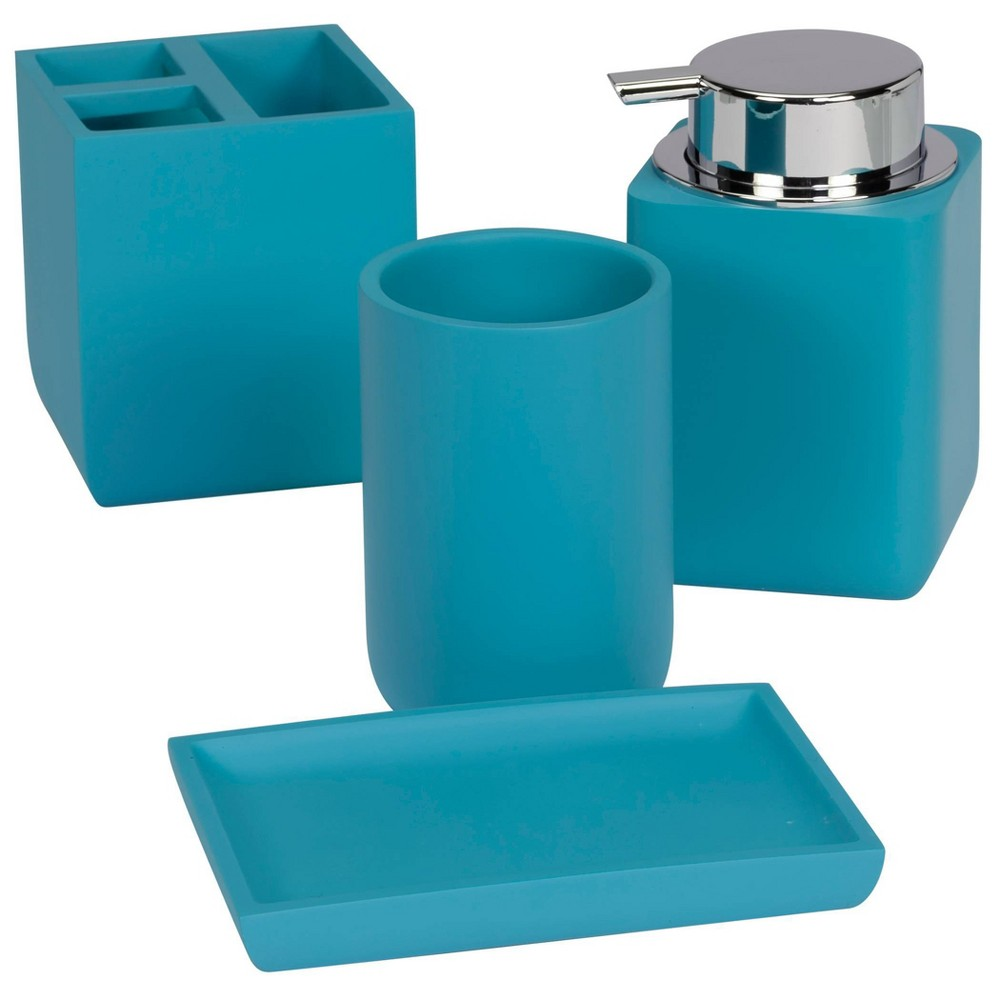 Image of 4pc Oceania Bath Collection Ocean Blue - Creative Bath