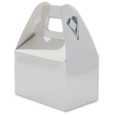 """Juvale 36 Mini Silver Foil Treat Boxes Favor Boxes Paper Party Favors Gift Goodie Container, 4""""x2.5"""""""