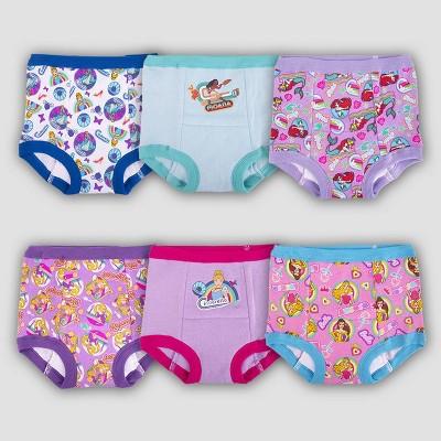 Toddler Girls' Disney Princess 6pk Training Underwear