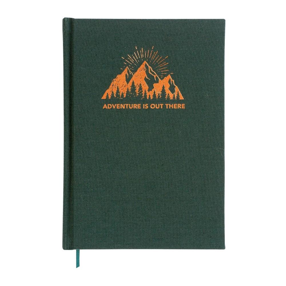 Adventure Lined Journal Black - X & O Paper Goods, Green