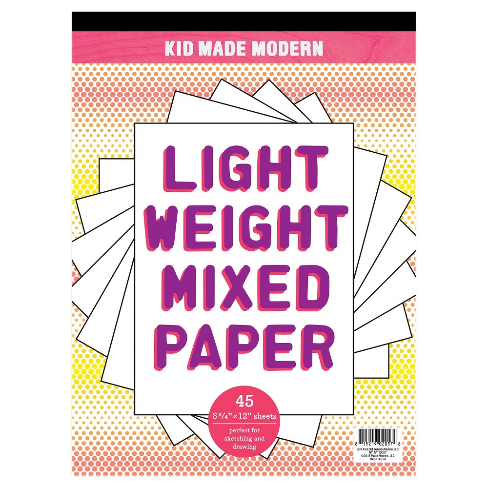 Kid Made Modern Drawing Pad, Light Weight Mixed Paper, 11