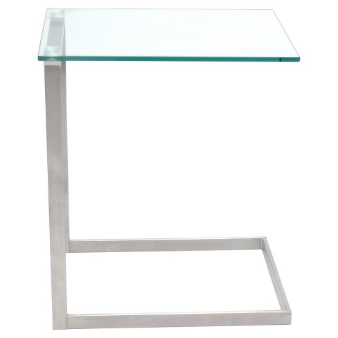 Zenn Glass End Table Clear - LumiSource - image 1 of 3