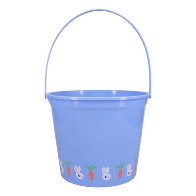 Jumbo Plastic Easter Bucket Printed Boarder with Stickers Blue - Spritz™