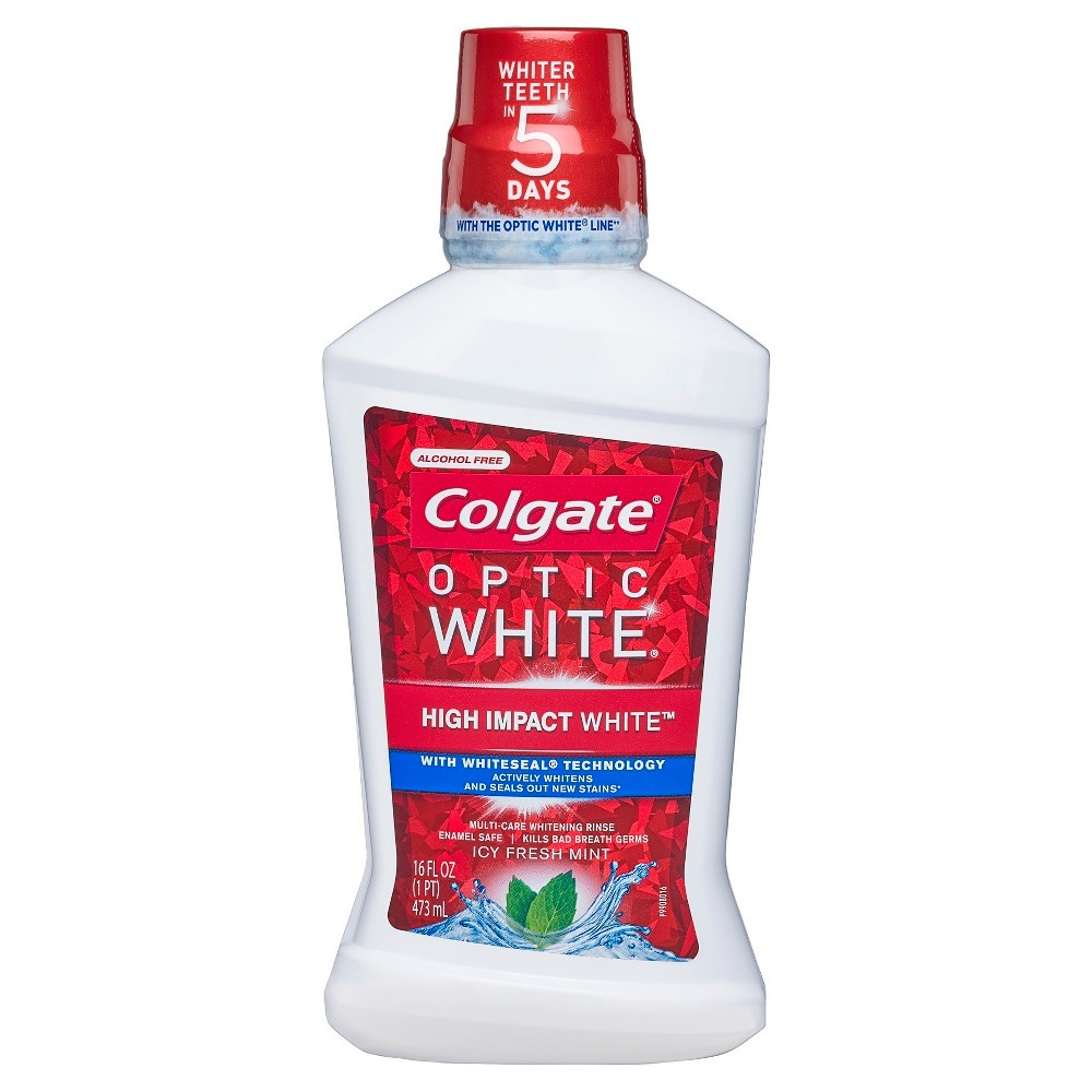 Colgate Optic White Whitening Mouthwash Fresh Mint - 16 fl oz