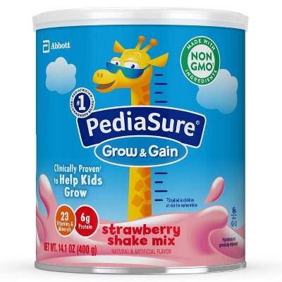PediaSure Grow & Gain 3pk Non-GMO Strawberry Shake Mix Powder - 42.3oz