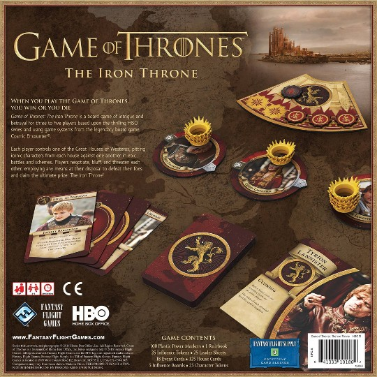 Fantasy Flight Games HBO Game of Thrones: The Iron Throne Board Game image number null