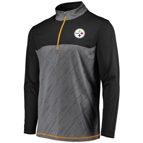 Pittsburgh Steelers Men s Striped Geo Fuse  Gray 1 2 Zip XL   Target 0b5437323