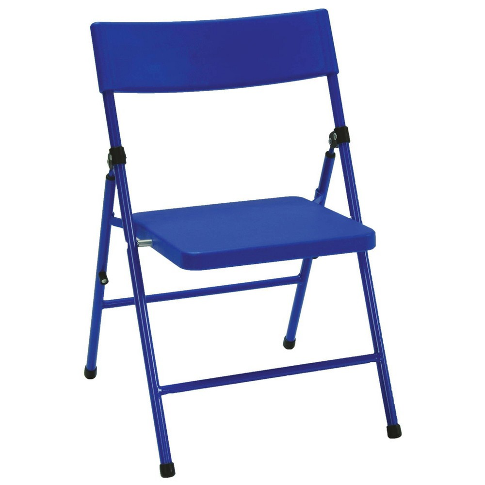 Image of 4pk Children's Pinch Free Folding Chair Blue - Room & Joy