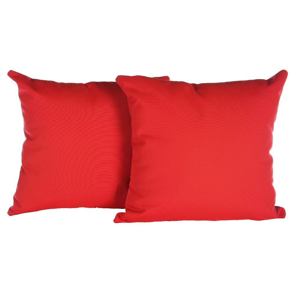 Image of Pillow in Canvas - Jockey Red - AE Outdoor