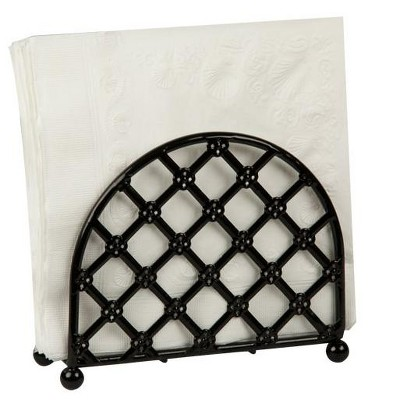 Home Basics Lattice Collection Free-Standing Napkin Holder, Black