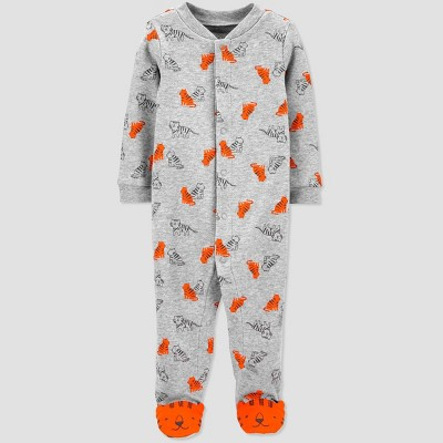 Baby Boys' Tiger One Piece Pajamas - Just One You® made by carter's Orange/Gray 9M