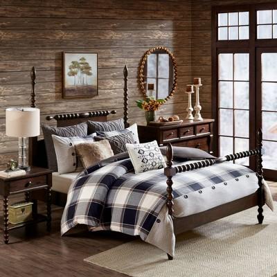 Queen 8pc Urban Cabin Cotton Jacquard Comforter Set - Brown