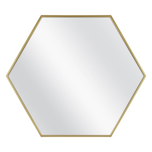 """30"""" x 26"""" Metal Hexagon Mirror MDF Back - Project 62™ - image 1 of 4"""