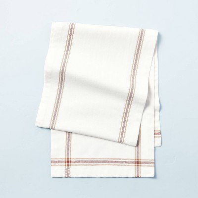 Engineered Border Stripes Table Runner Dune Brown/Sour Cream - Hearth & Hand™ with Magnolia
