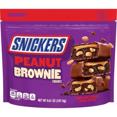 Snickers Peanut Brownie Fun Size Sharing Bag - 6.61oz