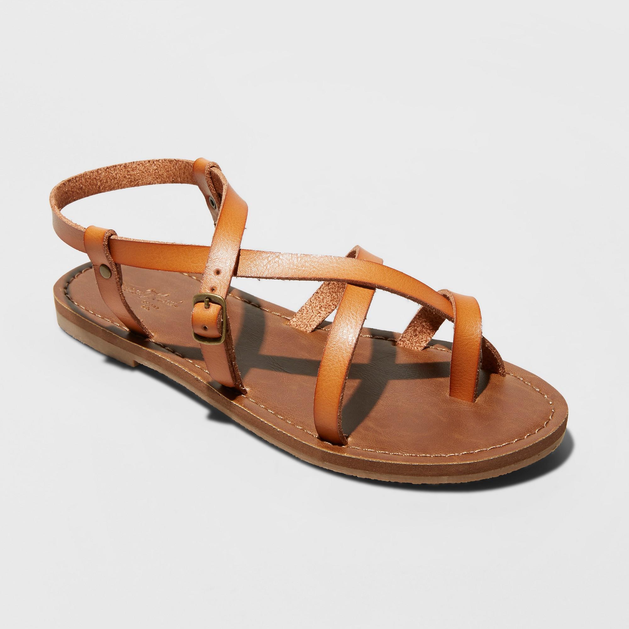 Women's Lavinia Toe Wrap Thong Sandal - Universal Thread Tan 5.5