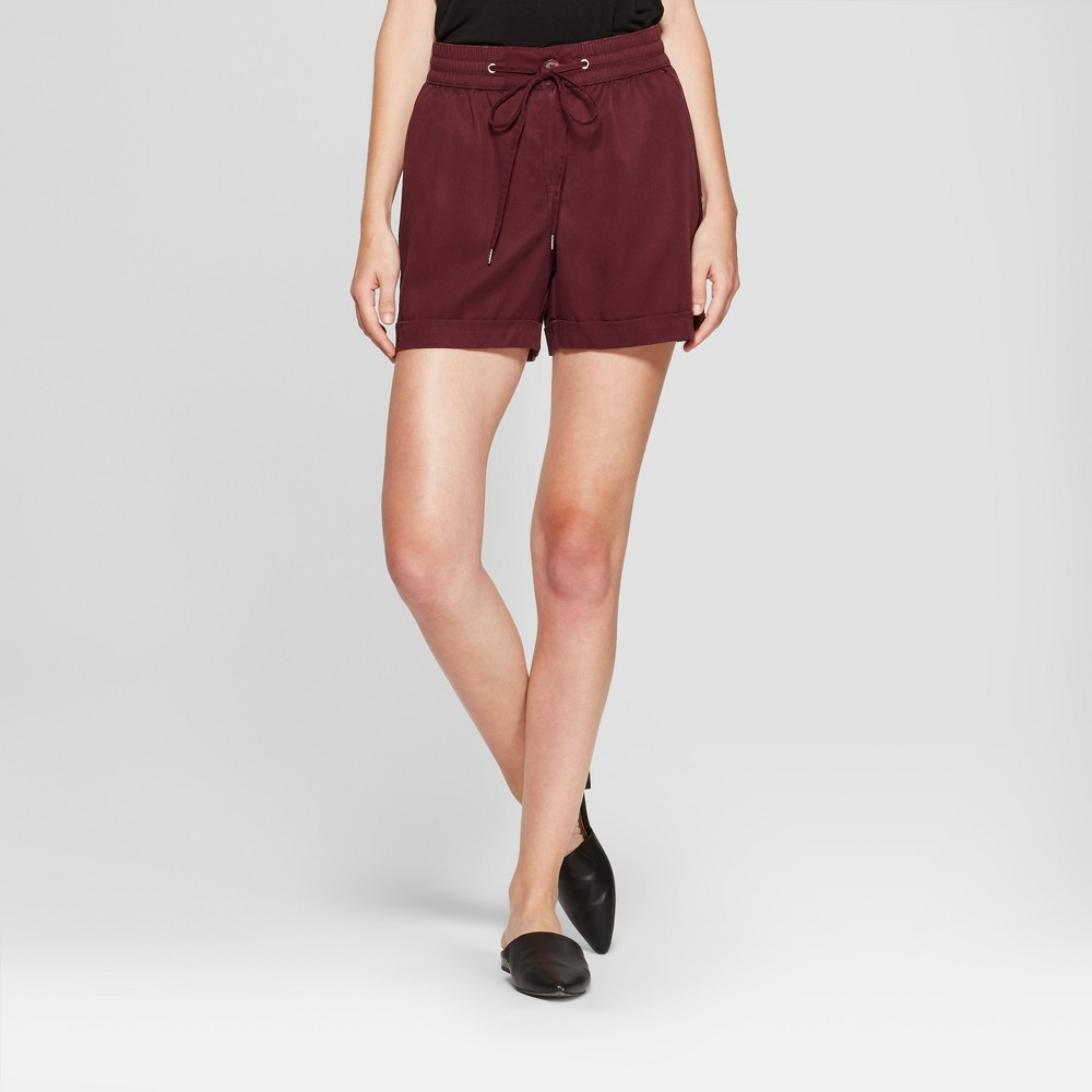 Women's Twill Shorts - A New Day Burgundy (Red) XL