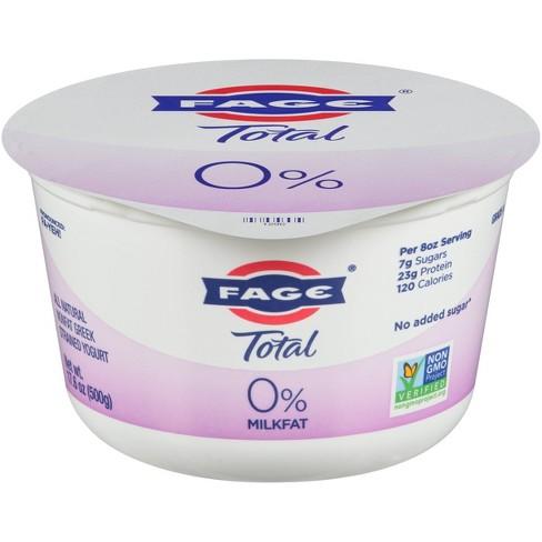 FAGE Total 0% Milkfat Plain Greek Yogurt - 17.6oz - image 1 of 1