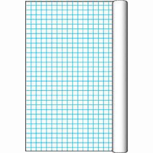 Pacon Paper Grid Roll with 1 inch Grid Rule, 34-1/2 in x 200 ft, White - image 1 of 1